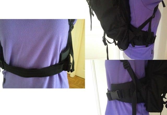 Rucksack mit Hüftgurt. Entlastet bei längeren Märschen und höherem Gewicht!